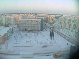 Raduzhny City Center from Hotel AganGrad
