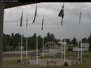 Arctic Circle from the Polcirkelhuset on Stora Vägen