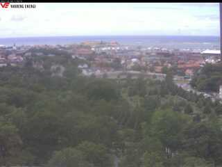 View from the Water Tower to Varberg Fortress