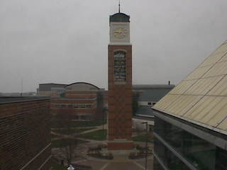 GVSU - Cook Carillon Clock Tower from Kirkhof