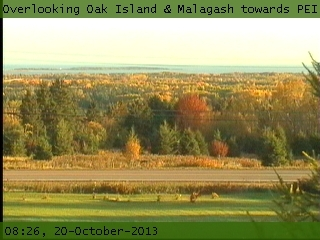 Overlooking Oak Island & Malagash towards P.E.I.  (Webcam Offline)