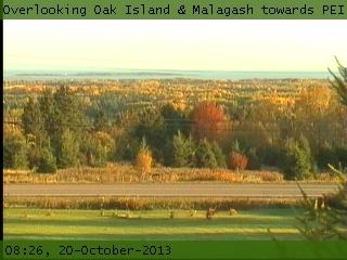 Overlooking Oak Island & Malagash towards P.E.I.  (Webcam Offline)