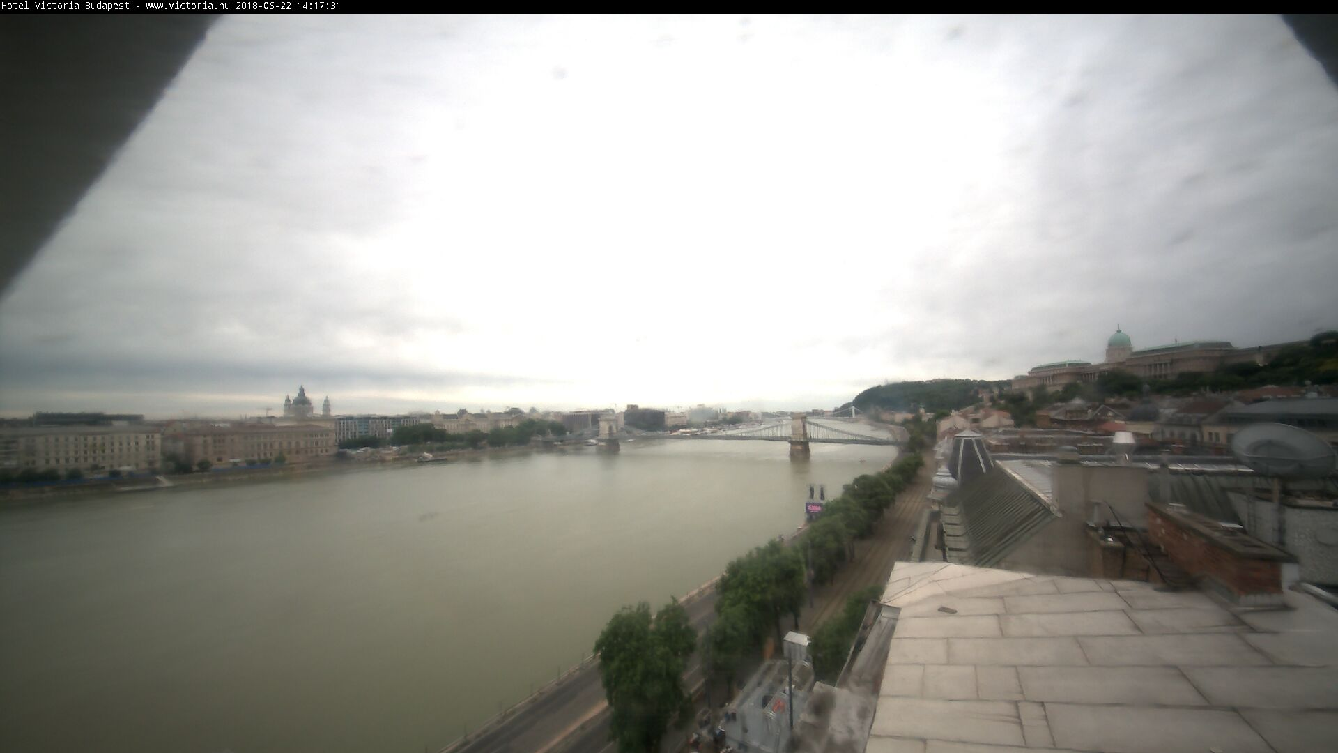 The Danube River from Hotel Victoria