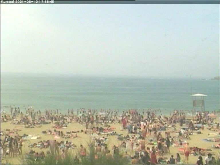 Zurriola Beach from Kursaal Congress Place