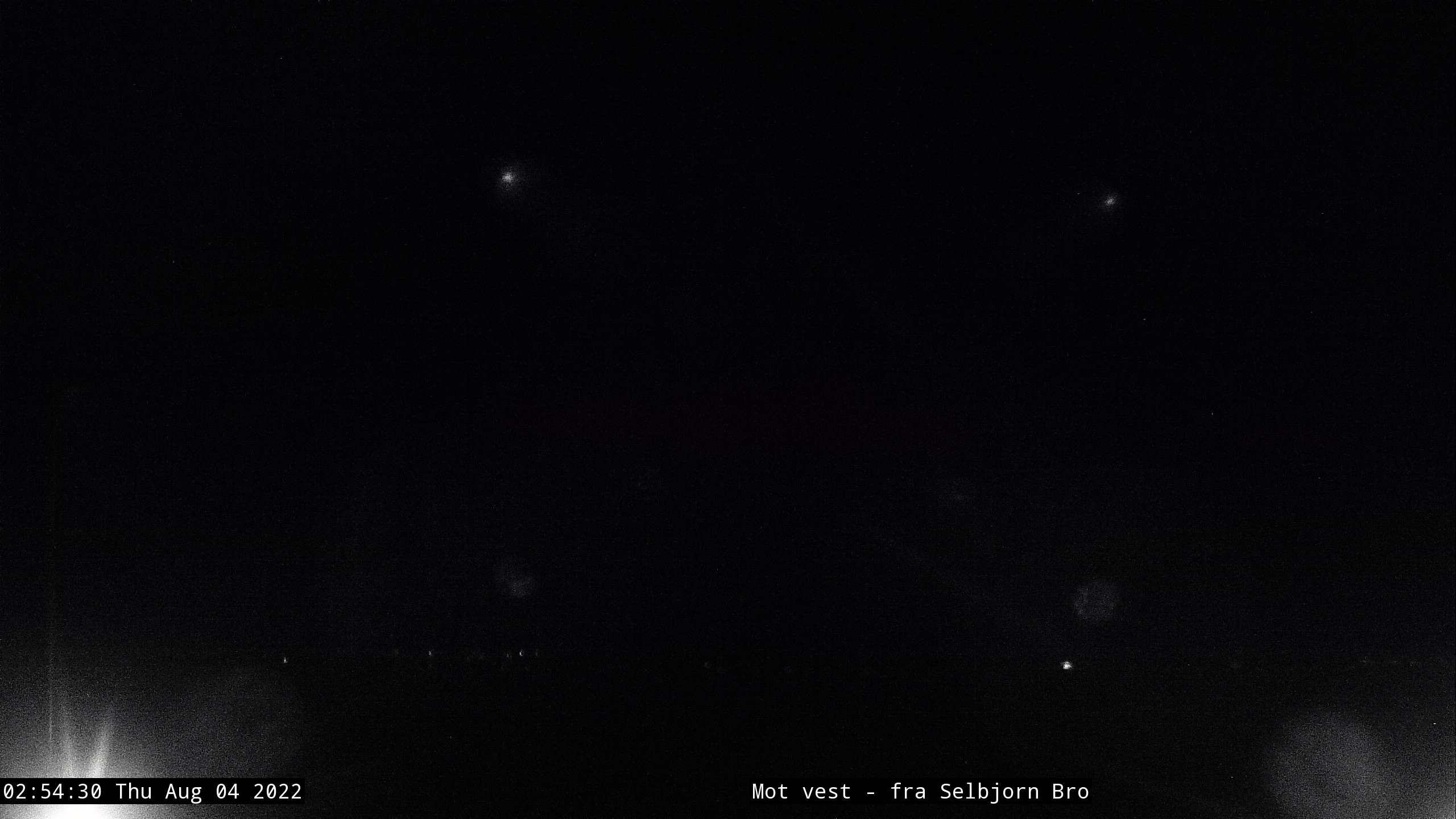 Austevoll Kraftlag SA - LYSGLIMT Webcam - Looking West Toward Selbjørn Bridge