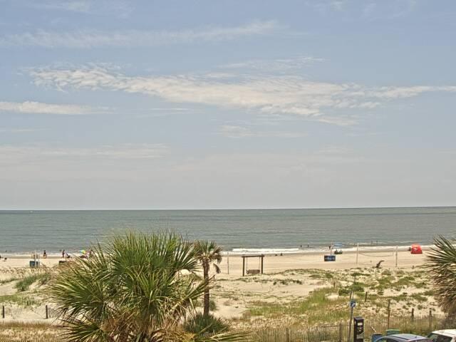 Tybee Beach from Spanky's Restaurant