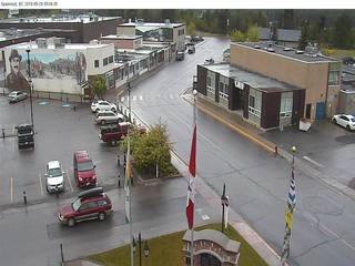 Downtown Sparwood from Sparwood Municipal Office