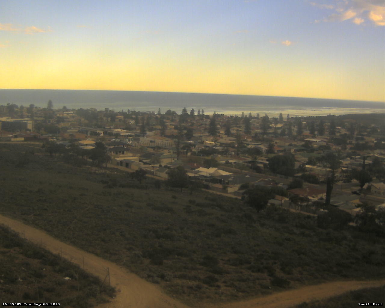 View from Whyalla Council's Communications Tower