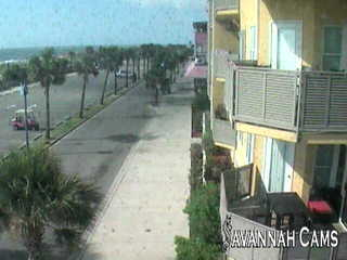 View of the Tybee Pier and Downtown Beach Area from Spanky's Restaurant