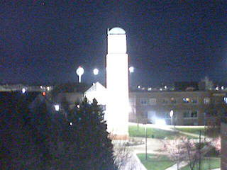 GVSU - Cook Carillon Clock Tower from Henry Hall