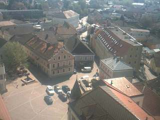 Overlooking Hauptplatz from St Michael's Church Tower