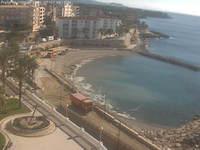 Overlooking the beach from Restaurant L'Alguer