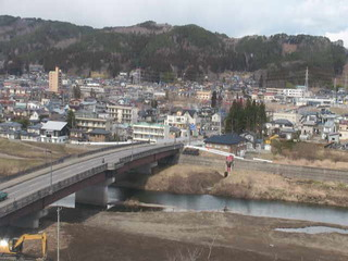 Overlooking the Kuji River from Culture Centre of Kuji