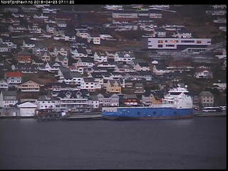 Måløy Harbour on Nordfjord