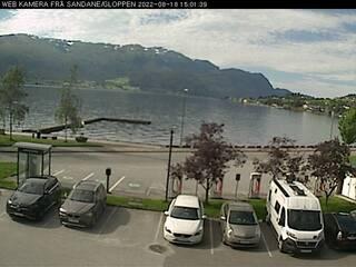 Sandane on Gloppefjorden